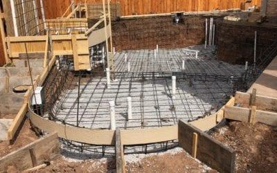 Huge Free Form Pool: Plumbing & Steel