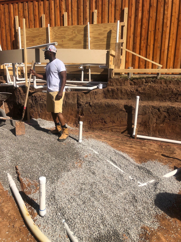 Antee S Pools Huge Free Form Pool Plumbing Reinforced Steel